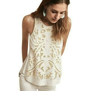 Anthropologie FILIGREE LACE TANK new